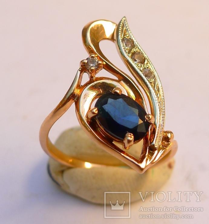 Набор кольцо и серьги 585 проба. Украина 8,7 гр., фото №4