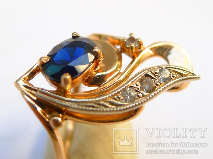Набор кольцо и серьги 585 проба. Украина 8,7 гр., фото №5