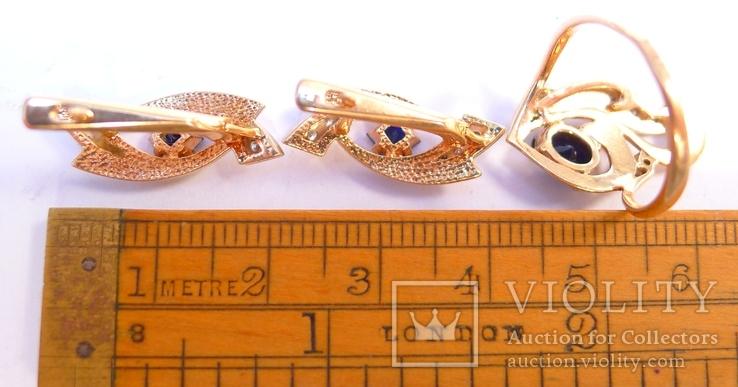 Набор кольцо и серьги 585 проба. Украина 8,7 гр., фото №8
