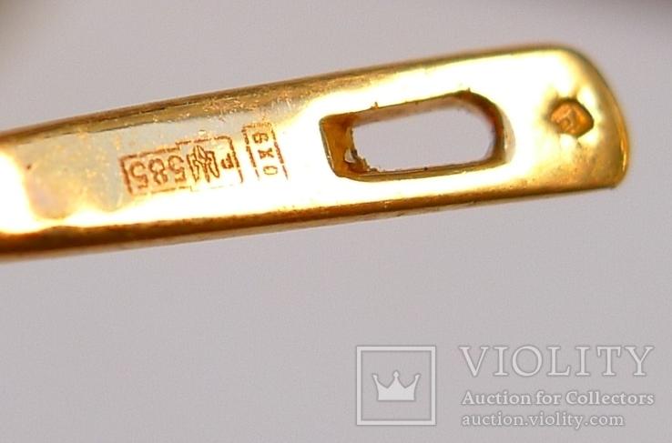Набор кольцо и серьги 585 проба. Украина 8,7 гр., фото №10
