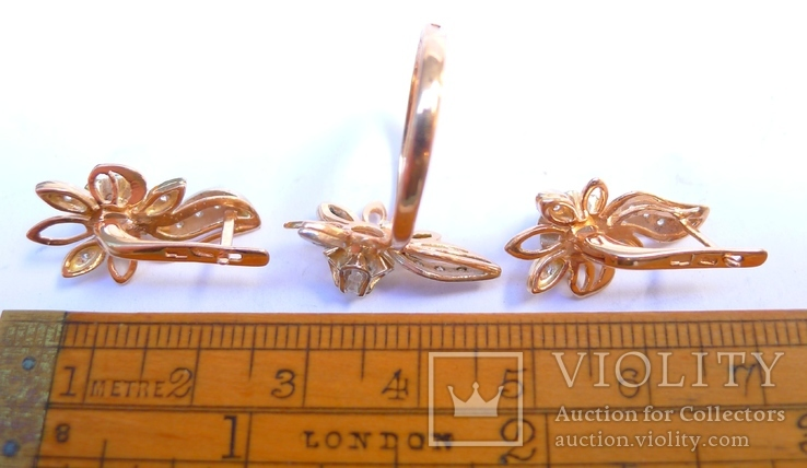 Набор кольцо и серьги.  8,5 грн., фото №9