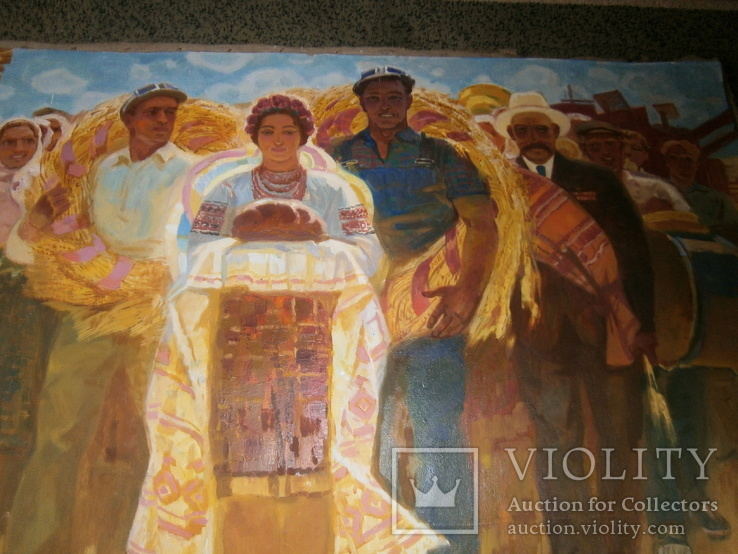 Праздник  Урожая,  автор А. Довженко  120 на 160 см, фото №4