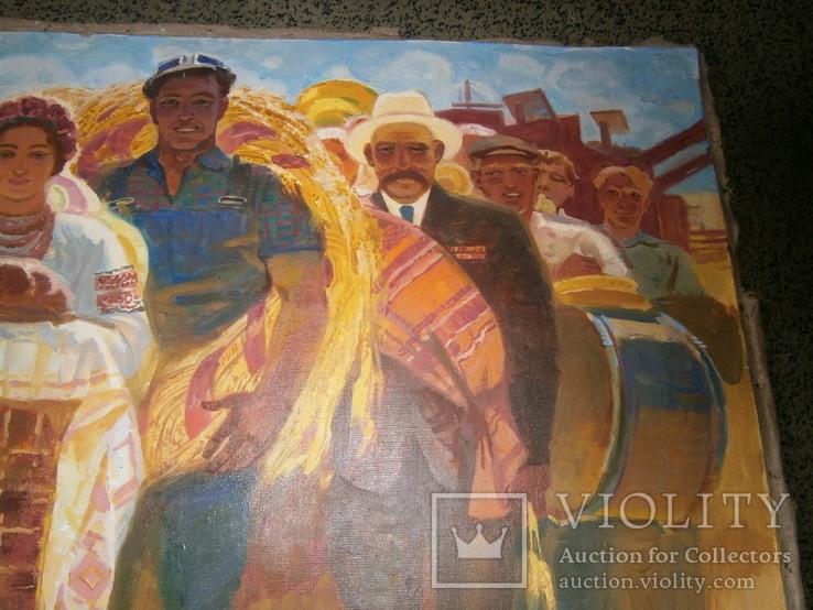Праздник  Урожая,  автор А. Довженко  120 на 160 см, фото №5
