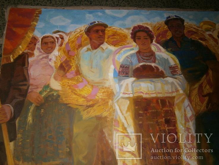 Праздник  Урожая,  автор А. Довженко  120 на 160 см, фото №6