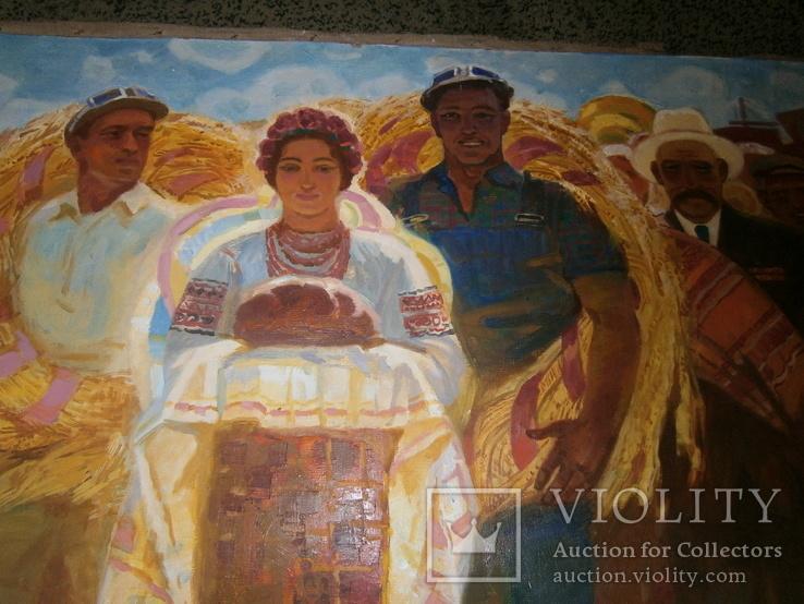 Праздник  Урожая,  автор А. Довженко  120 на 160 см, фото №7