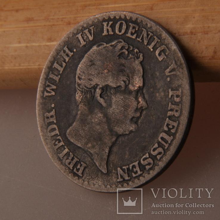 Пруссия 2 1/2 гроша - 2 1/2 Silber groschen 1843 A, фото №3