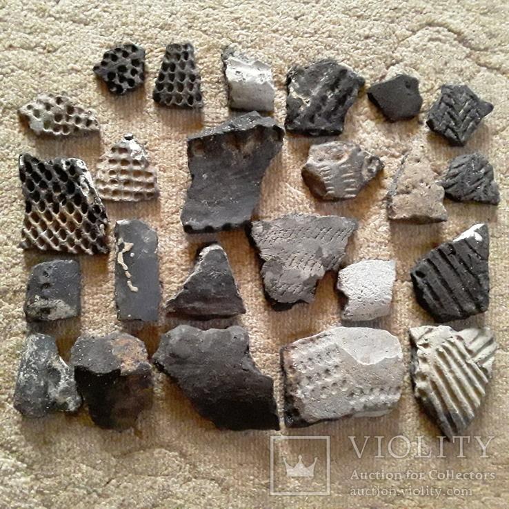 Осколки горшка ямной культуры. Энеолитическая керамика., фото №3