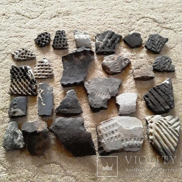 Осколки горшка ямной культуры. Энеолитическая керамика.