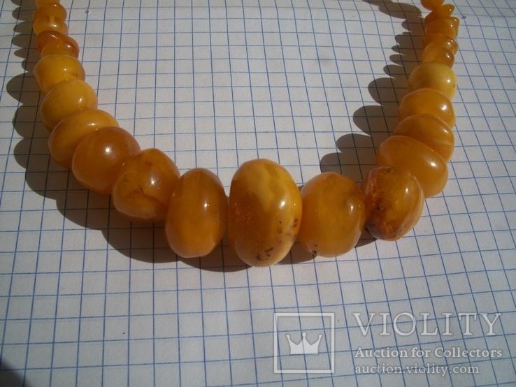 Натуральные янтарные бусы 40 грамм, фото №10