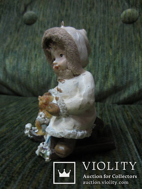 77. Ёлочная игрушка ,Девочка с белкой, 20-30-е гг ХХ в., Германия., фото №3