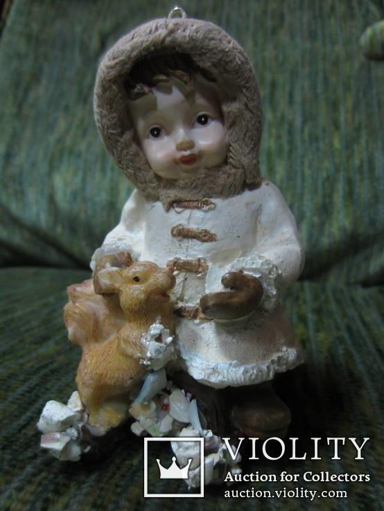 77. Ёлочная игрушка ,Девочка с белкой, 20-30-е гг ХХ в., Германия., фото №6