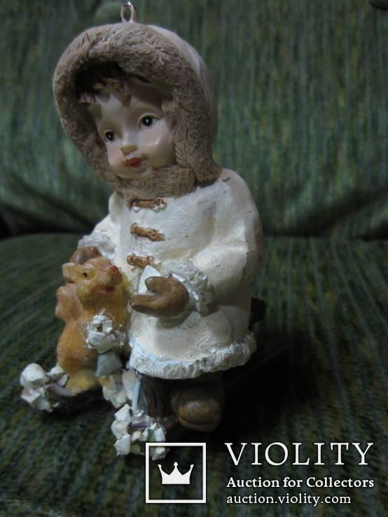 77. Ёлочная игрушка ,Девочка с белкой, 20-30-е гг ХХ в., Германия., фото №8