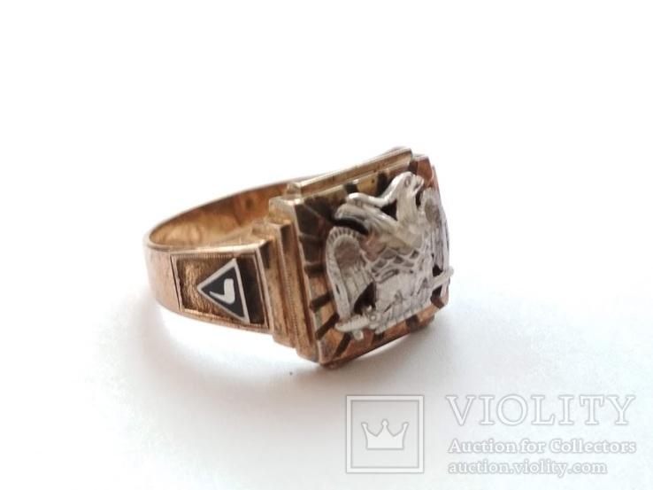 Масонское золотое кольцо, фото №4