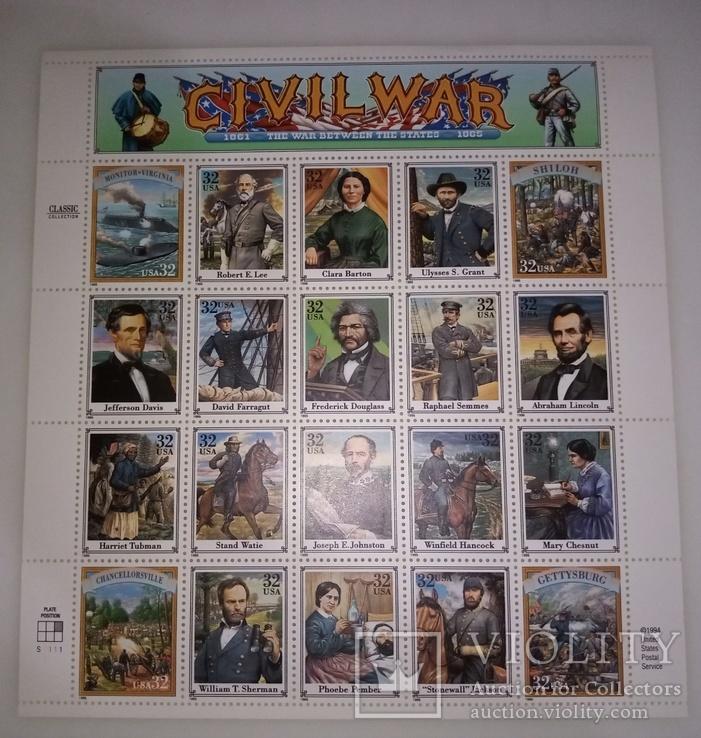 США гражданская война полный набор, фото №2