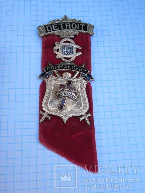 Орден рыцарей храма командорство г. Детроит №1 Начало ХХ века, фото №3