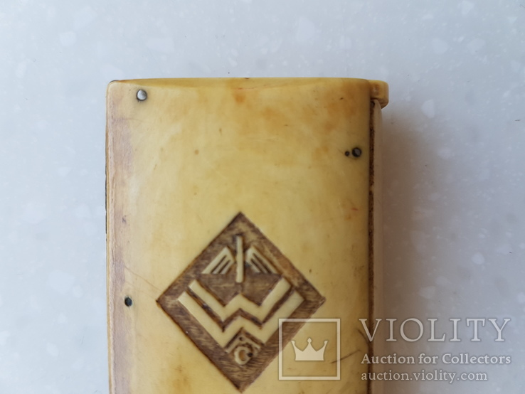 Спичечница Старая Германия с кости, фото №3