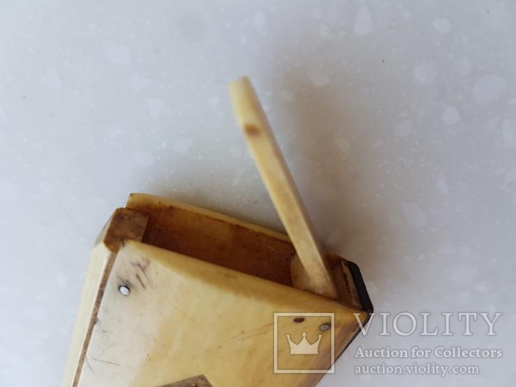 Спичечница Старая Германия с кости, фото №9