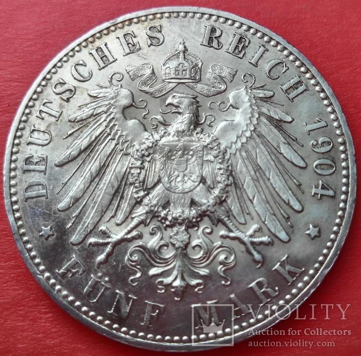 Мекленбург-Шверин 5 марок 1904 г.,  'Свадьба Герцога Фридриха Франца IV', фото №9