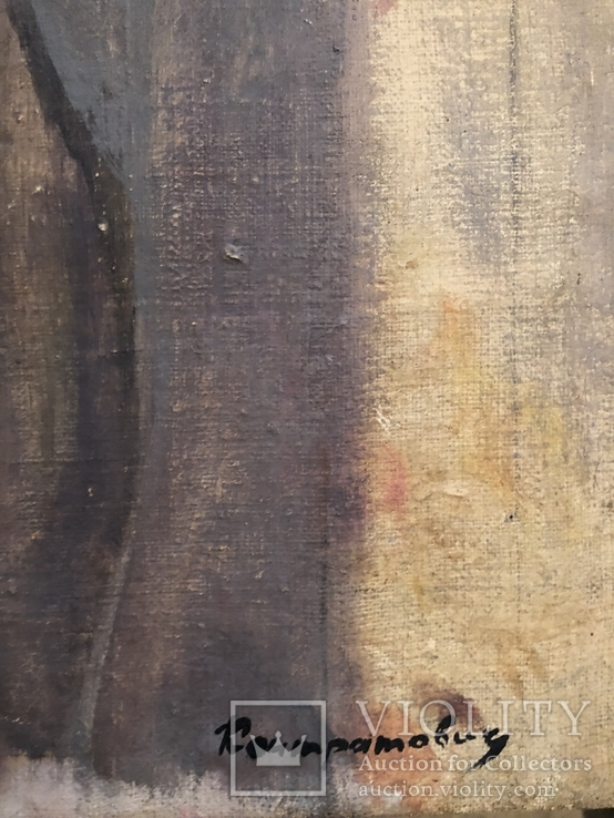 """Контратович """"Портрет девушки в красном платке"""", фото №3"""