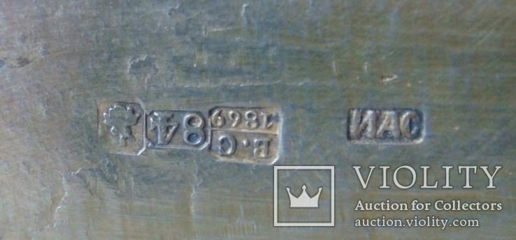 Большая солонка (трон, стул) с надписью: Без соли  без хлеба половина обеда, фото №7