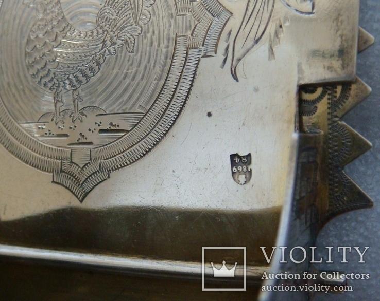 Большая солонка (трон, стул) с надписью: Без соли  без хлеба половина обеда, фото №9