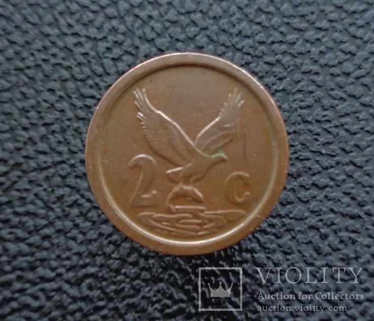 ЮАР 2 цента 1990, фото №2