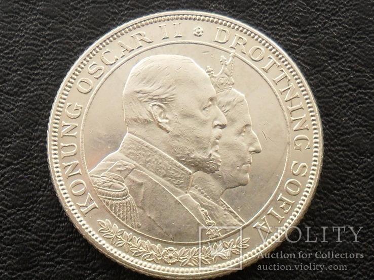 Швеция, 2 кроны 1907 г
