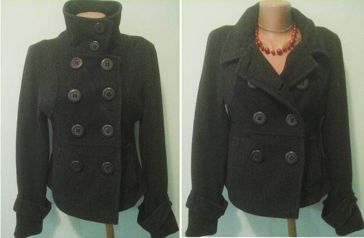 Шерстяное пальто-куртка River Island, р.M-L, отлич.сост