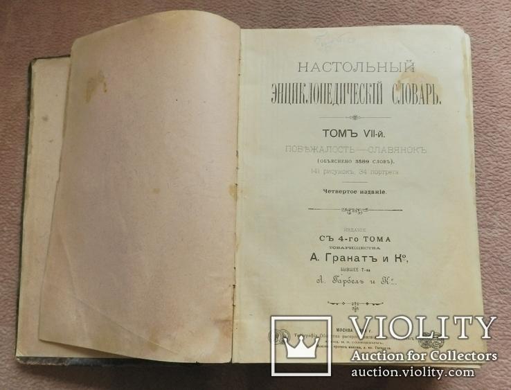 Настольный энциклопедический словарь. 1899 г. т.7, фото №2
