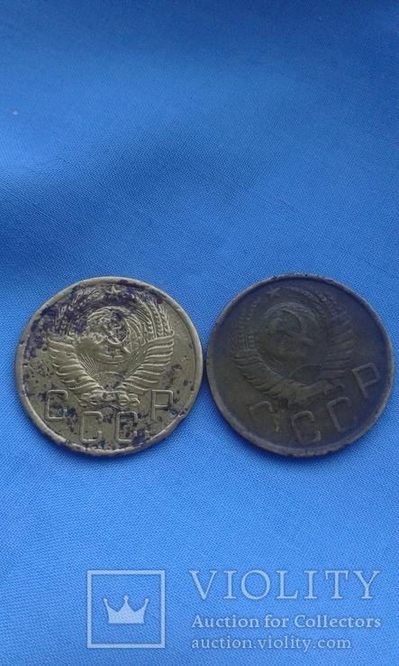 5 копеек 1955 и 1948 г одним лотом, фото №5