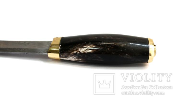 Нож охотничьий. Дамасская сталь., фото №6