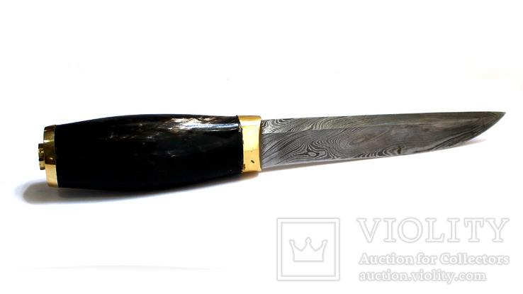 Нож охотничьий. Дамасская сталь., фото №9