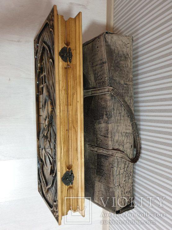 Большие дубовые нарды ручной работы, фото №5