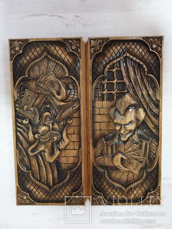 Большие дубовые нарды ручной работы, фото №6