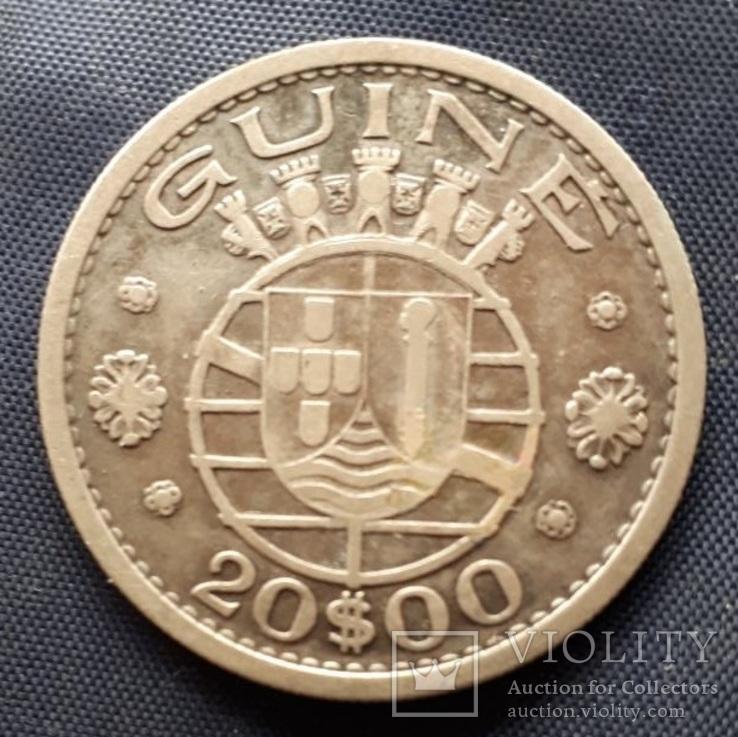 20 эскудо Португальская Гвинея 1952г. серебро 10гр., фото №2
