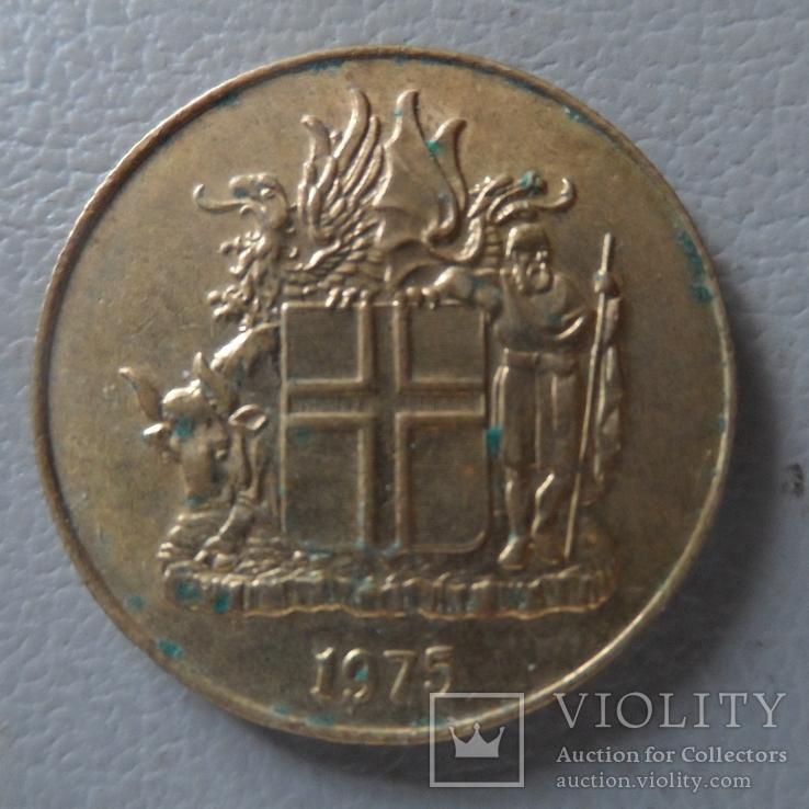 1 крона 1975  Исландия   (О.1.21)  ~, фото №3
