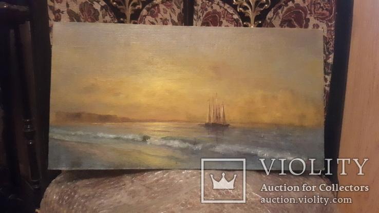 Морской пейзаж,подпись автора