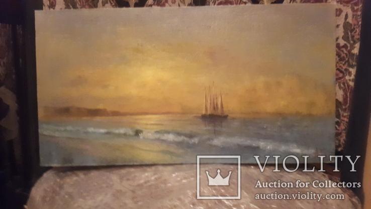 Морской пейзаж,подпись автора, фото №6