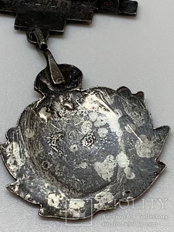 Серебряный знак Королевский военно-морской флот, фото №5