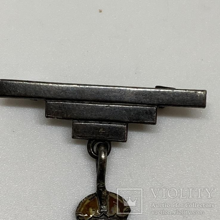 Серебряный знак Королевский военно-морской флот, фото №9