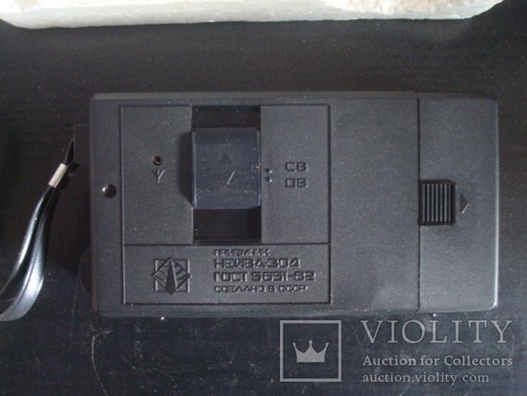 """Транзисторный приёмник СССР """"Нейва- 304"""" с кроной, фото №6"""