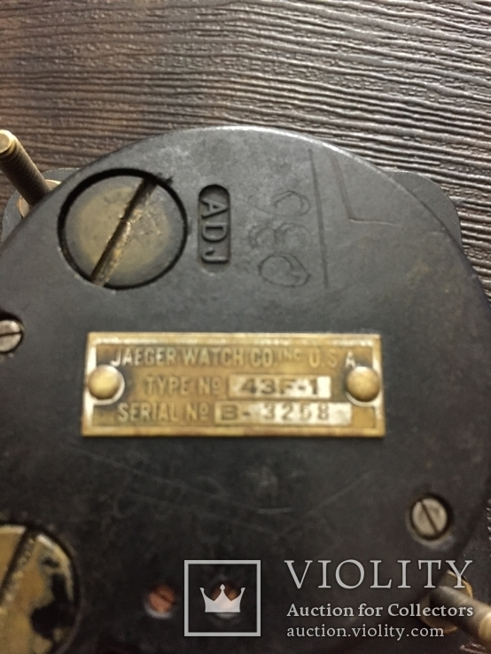 Часы авиационные Jaeger A-11 Bulova 8 Days самолетов B-17 и B-29, фото №7