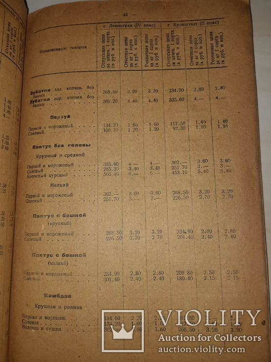 1937 Прейскурант на рыботовары и консервы, фото №7