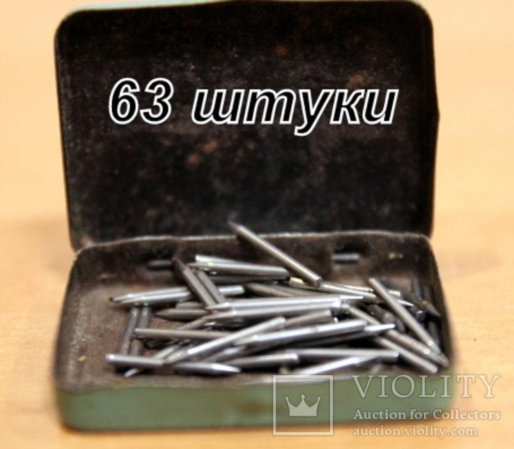 Патефонные-граммофонные  иглы  63 штуки, фото №3