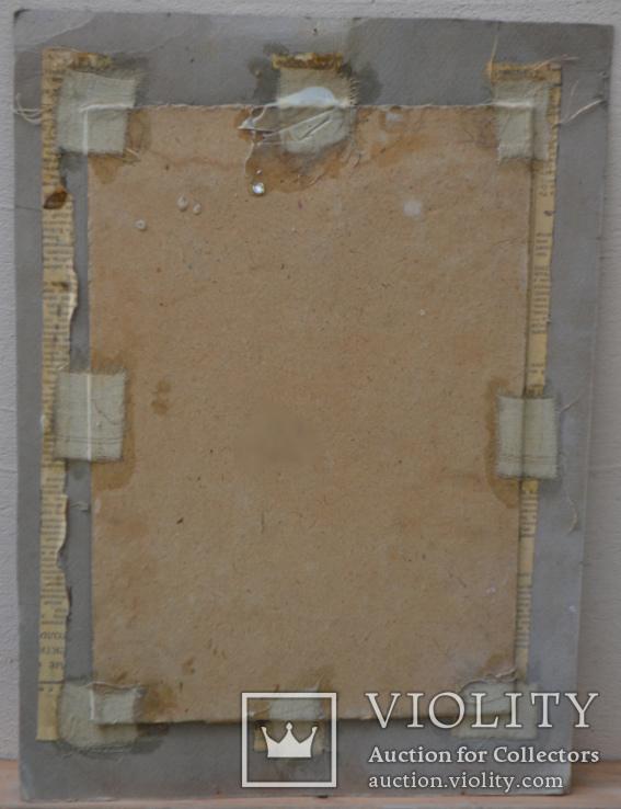 """Картина картон-масло """"Бабушка"""" 1960-е годы Чернюк В.Г, фото №3"""