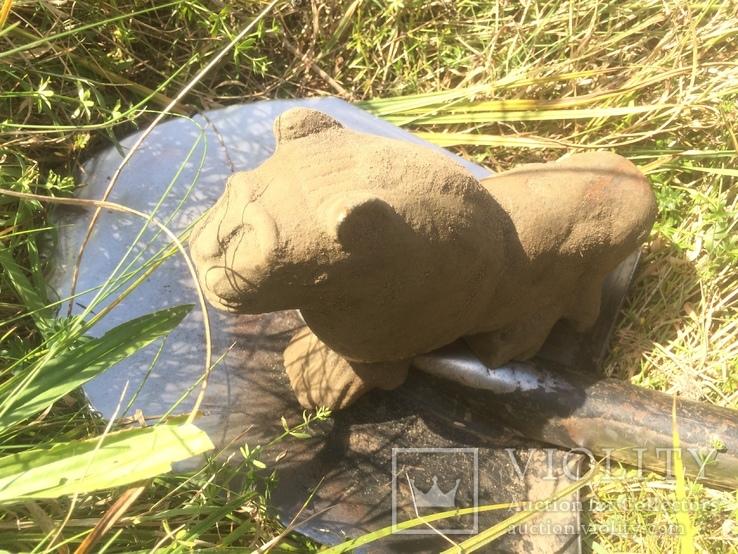Бронзовый лев-скульптура 4.3 кг, фото №5