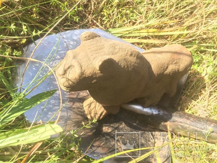 Бронзовый лев-скульптура 4.3 кг, фото №6