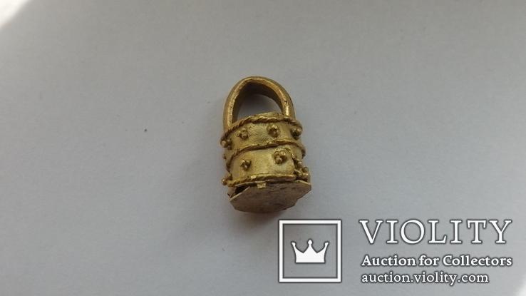 Золотая ароматница  2-4 век 3,1г, фото №5