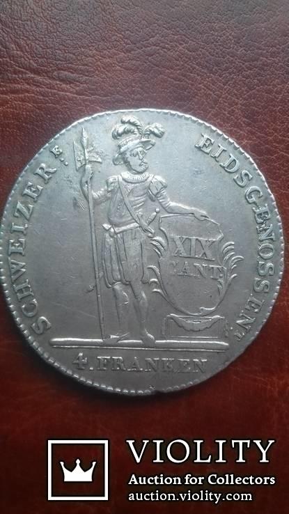 4 франка 1814 р. Швейцарія. Стрілковий талер. Кантон Люцерн.
