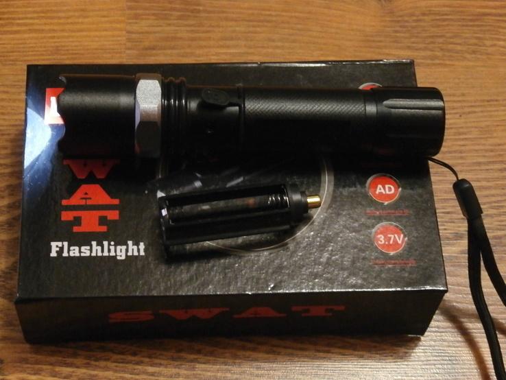 Аккумуляторный фонарь Poliсe T8626-Q5 SWAT, фото №6